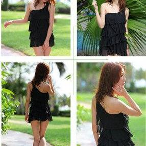 Swimsuit ONE PIECE BLACK Tankini Pa..