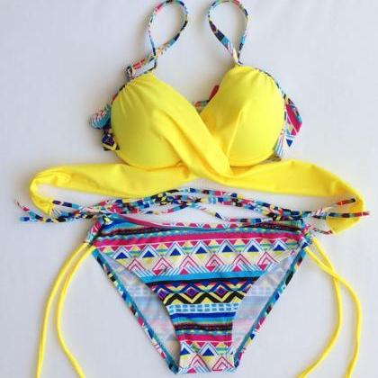 New Woman Bra padded bandage swimsu..