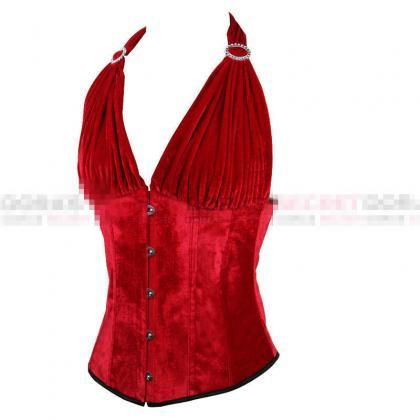 Sexy Women Halter Red Color Bustier..