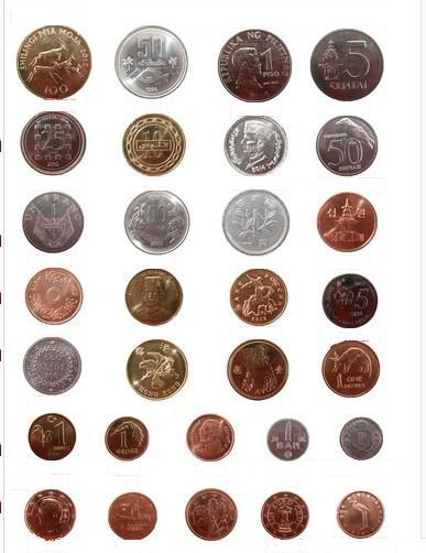 Foreign coins 30 countries for all countries collection coin