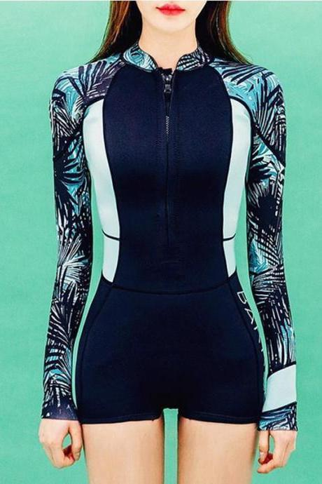 Surfing Sea Surf Beachwear Swimming Suits Women Long Sleeve Rash Guard Swimwear