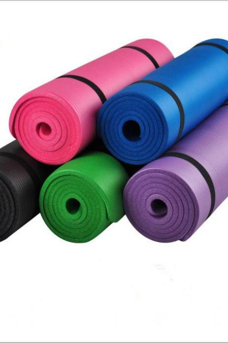 Non Slip Yoga Mat Indoor Outdoor Balance Exercise Physio Fitness Durable Pilates
