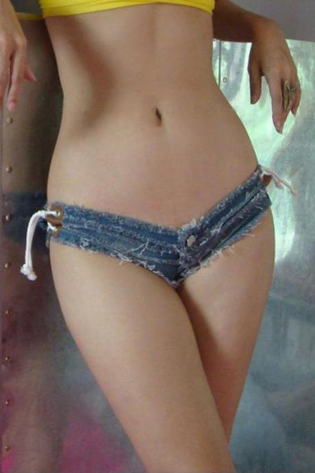 Sexy Hot Nightclub Womens Denim Jean Short Shorts Low Waist Hot Pants Daisy Duke