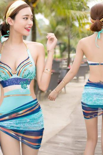 Luxury Wonderful Attractive Pattern Swimwear Ladies Women One piece Monokini