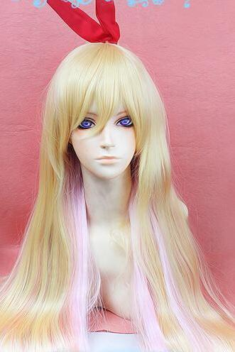 New Beautiful Wig Nisekoi Kirisaki Chitoge Gradual Change Cosplay Party Hair Wig