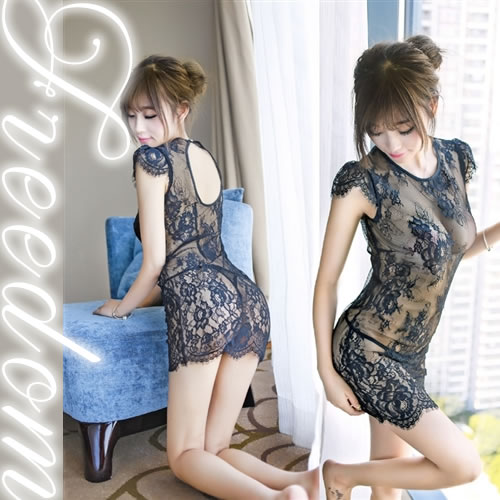 Beautiful See through Lingerie sexy costume play underwear baby Soft Cheongsam