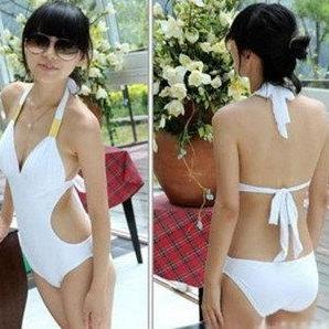 Fashion Bikini Piece Swimsuit Sexy Bikini Monokini Swimsuit Halter Pad Backless