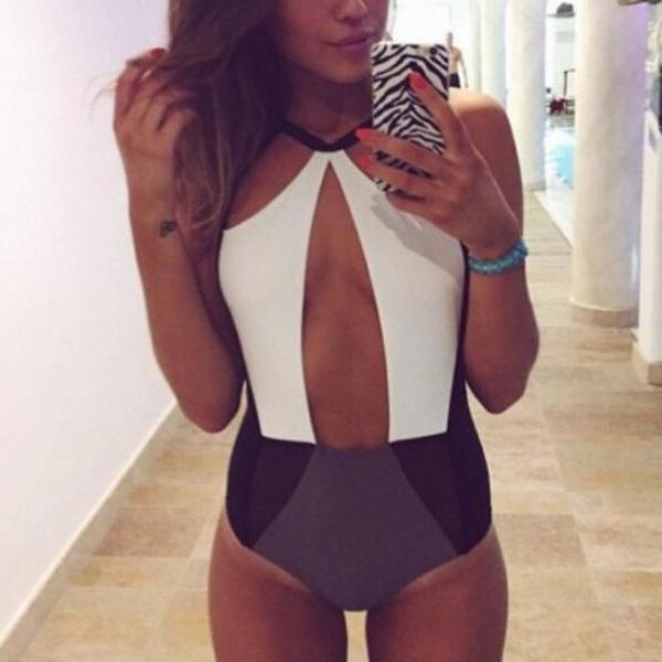 SUMMER SEXY ONE-PIECE MONOKINI SWIMSUIT BIKINI PADDED SWIMWEAR BEACHWEAR