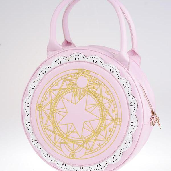 Card Captor Cardcaptor Sakura Kinomoto Sealing magic Moon bag Lady Handbag White