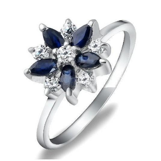 Korean Style Natural sapphire Rings 925 silver jewelry Jewel Ring