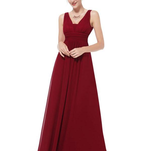 Deep Red XLarge Size Flirty Multi Way Wrap Convertible Infinity Bridesmaid Dress